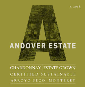 Andover Estate 2018 Chardonnay Label