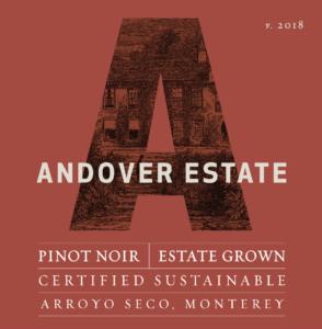 Andover Estate 2018 Pinot Noir Label – transp