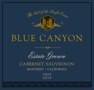 Blue Canyon 2018 Cabernet Sauvignon Label