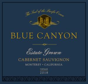 Blue Canyon 2018 Cabernet Sauvignon Label – transp