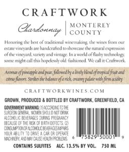 Craftwork 2018 Chardonnay Back Label – transp