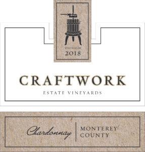 Craftwork 2018 Chardonnay Label