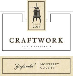 Craftwork 2018 Zinfandel Label