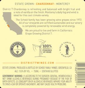 District 7 NV Chardonnay Back Label – transp