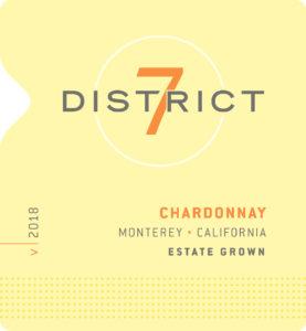 District 7 2018 Chardonnay Label