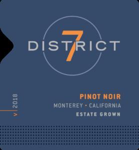 District 7 2018 Pinot Noir Label – transp