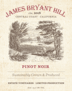 James Bryant Hill 2018 Pinot Noir Label – transp