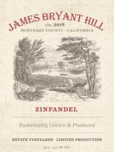 James Bryant Hill 2018 Zinfandel Label – transp