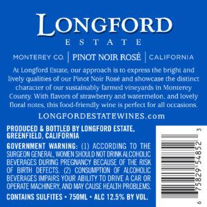 Longford Estate 2019 Pinot Noir Rose Back Label