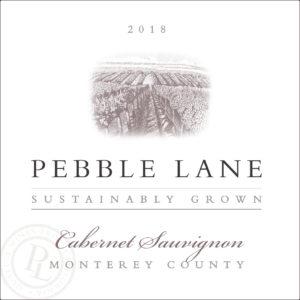 Pebble Lane 2018 Cab Sauv Label