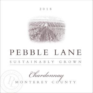 Pebble Lane 2018 Chardonnay Label