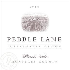 Pebble lane 2018 Pinot Noir Label