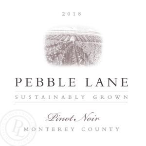 Pebble lane 2018 Pinot Noir Label – transp