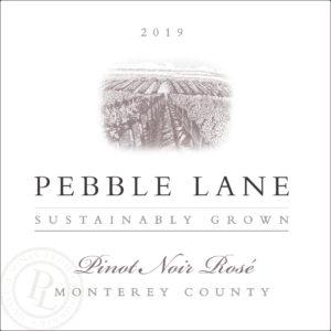 Pebble Lane 2019 Pinot Noir Rose Label