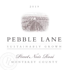 Pebble Lane 2019 Pinot Noir Rose Label – transp