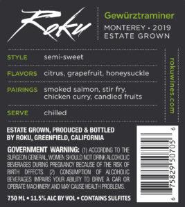 Roku 2019 Gewurzt Back Label