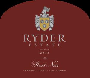 Ryder Estate 2018 Pinot Noir Label – transp