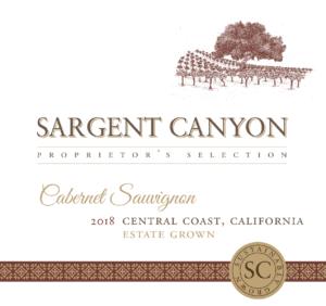 Sargent Canyon 2018 Cab Sauv Label – transp