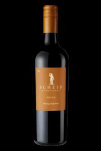 Scheid Vineyards 2017 50/50 Red Blend Bottle Shot – transp