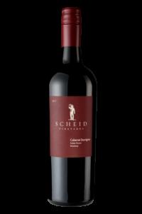 Scheid Vineyards 2017 Cabernet Sauvignon Bottle Shot – transp