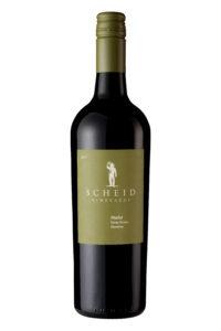 Scheid Vineyards 2017 Merlot Bottle Shot