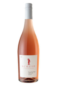 Scheid Vineyards 2017 Pinot Noir Rose Bottle Shot