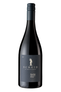 Scheid Vineyards 2017 Pinot Noir Bottle Shot – transp