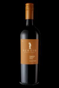 Scheid Vineyards 2017 Sangiovese Bottle Shot – transp