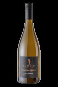 Scheid Vineyards 2017 Reserve Chardonnay SLH Bottle Shot – transp