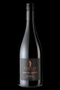 Scheid Vineyards 2017 Reserve Pinot Noir SLH Bottle Shot – transp