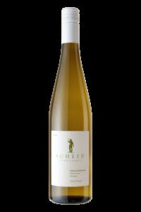 Scheid Vineyards 2018 Gewurztraminer Bottle Shot – transp