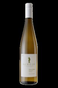 Scheid Vineyards 2018 Gruner Veltliner Bottle Shot – transp
