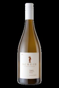 Scheid Vineyards 2018 Viognier Bottle Shot – transp