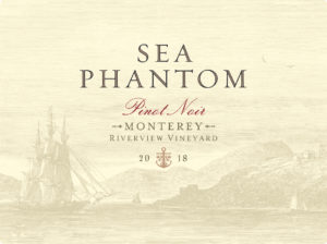Sea Phantom 2018 Pinot Noir Label