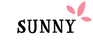 Sunny with a Chance of Flowers Abbreviated Logo – Pink