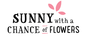 Sunny with a Chance of Flowers Horizontal Logo – Pink