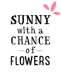Sunny with a Chance of Flowers Primary Logo – Pink