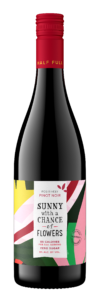 Sunny with a Chance of Flowers NV Pinot Noir Bottle Shot – transp