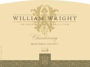 William Wright 2018 Chardonnay Label
