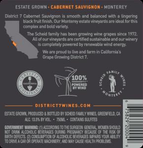 District 7 NV Cabernet Sauvignon Back Label – transp