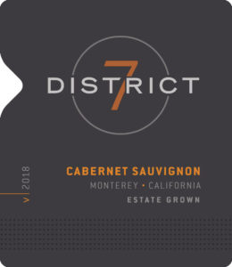 District 7 2018 Cabernet Sauvignon Front Label