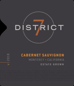 District 7 2018 Cabernet Sauvignon Front Label – transp