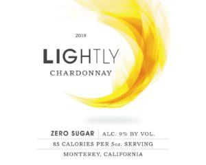 Lightly 2018 Chardonnay Front Label