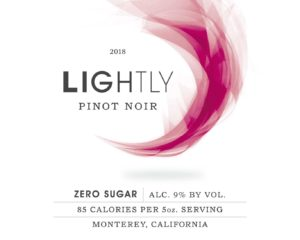 Lightly 2018 Pinot Noir Front Label