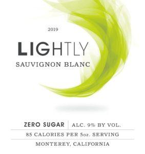 Lightly 2019 SauvBlanc Front Label