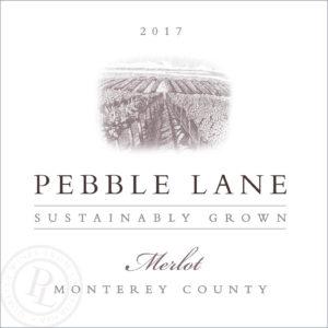 Pebble Lane 2017 Merlot Label
