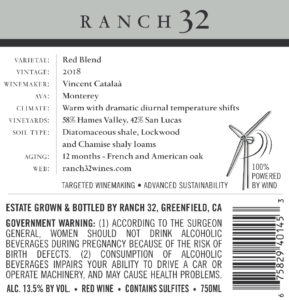Ranch 32 2018 Cooper's Blend Back Label – transp