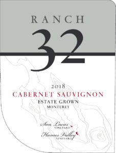 Ranch 32 2018 Cabernet Sauvignon Label