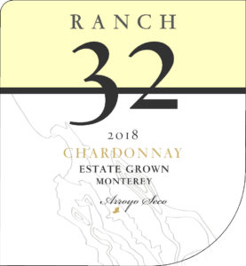 Ranch 32 2018 Chardonnay Label