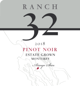 Ranch 32 2018 Pinot Noir Label – transp